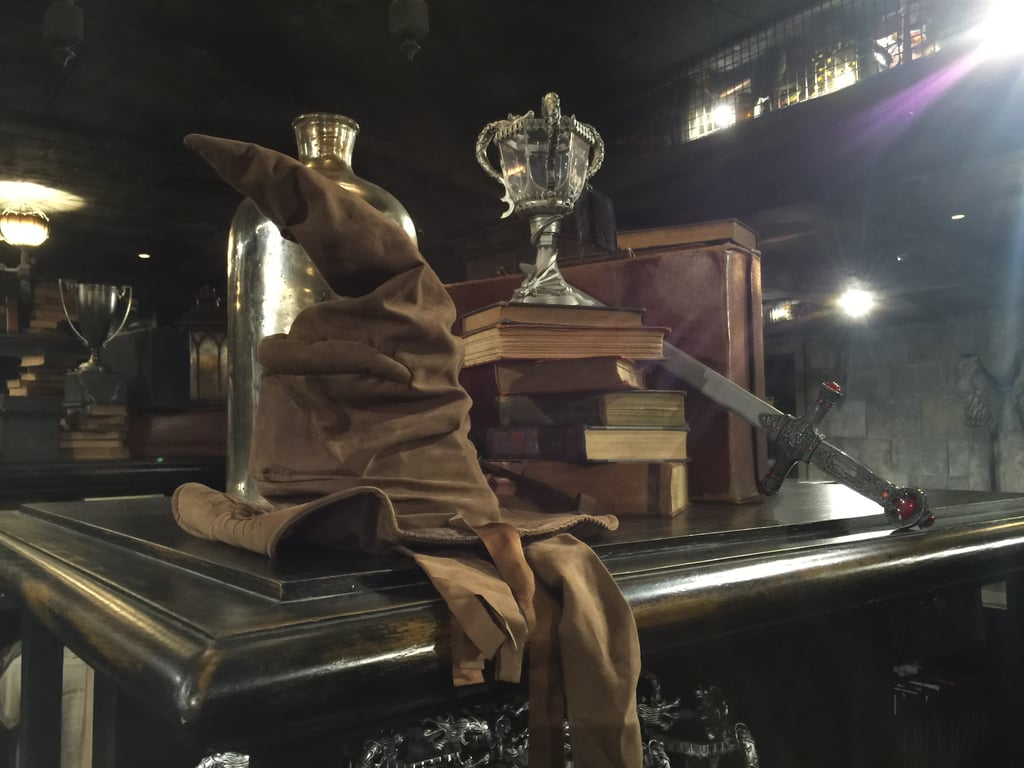There's a Sorting Hat in Filch's Emporium of Confiscated Goods that will actually sort you.