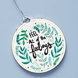 Sam Eldridge Embroidery Hoop Ornament