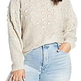 BP. Bobble Stitch Mock Neck Sweater