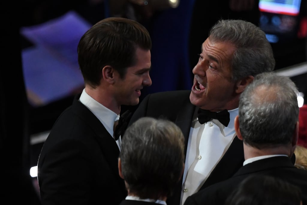 Andrew Garfield caught up with Mel Gibson.