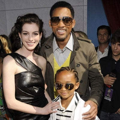 Anne Hathaway, Will Smith and Jaden Smith at the 2008 MTV Movie Awards