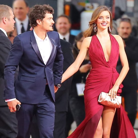 Miranda Kerr and Orlando Bloom at the Golden Globes 2013