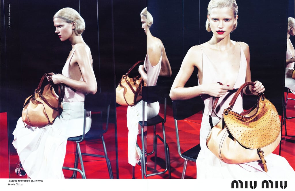 Kasia Struss for Miu Miu, by Mert Alas and Marcus Piggott