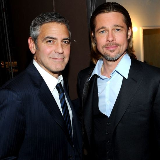 Brad Pitt George Clooney Play 8 Performance (Video)