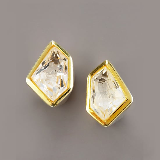 Kara Ross Tiny Rock Crystal Stud Earrings, $250