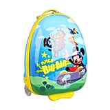 A retractable pull handle on the Mickey Wheeled Luggage ($70) by Heys makes it a great, kid-friendly option.
