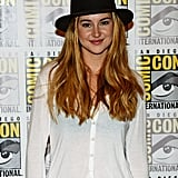 Shailene Woodley sported a hat to the Divergent panel at Comic-Con.