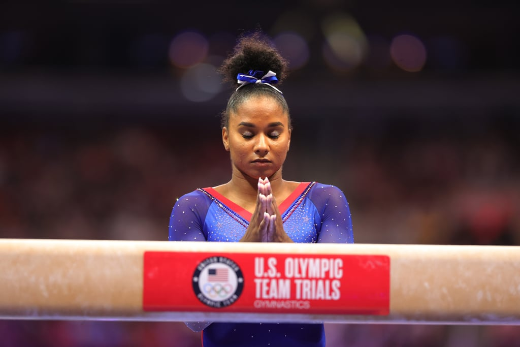 Jordan Chiles Does Visualization Before Her Routines