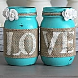 Turquoise Mason Jar Decorations