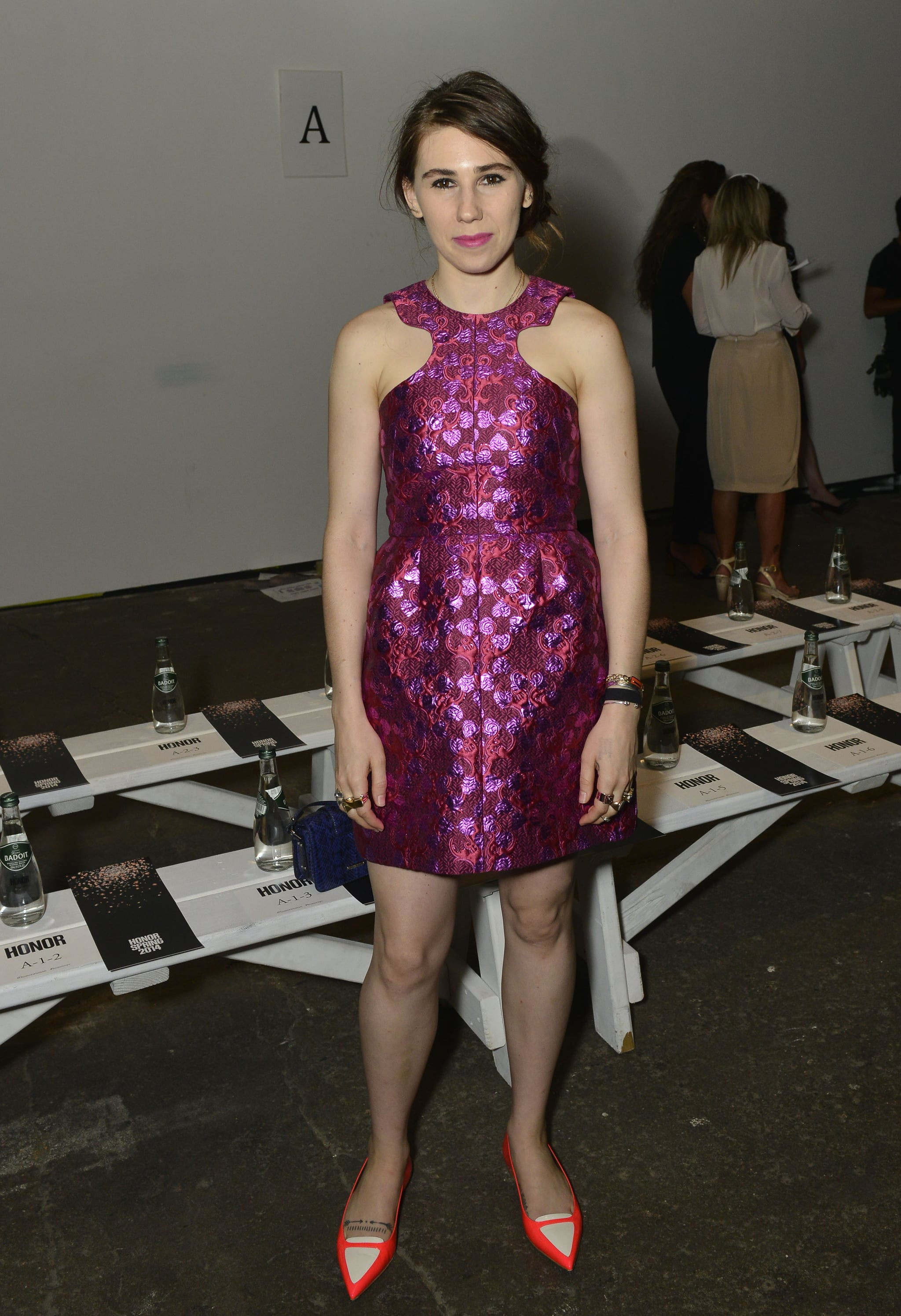 Girls star Zosia Mamet popped up backstage at the Honor show on Thursday.