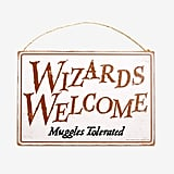 Harry Potter Wizards Welcome Door Sign