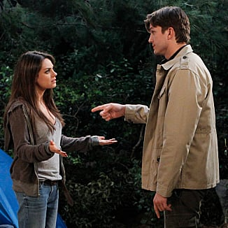 Ashton Kutcher and Mila Kunis on Two and a Half Men | Video