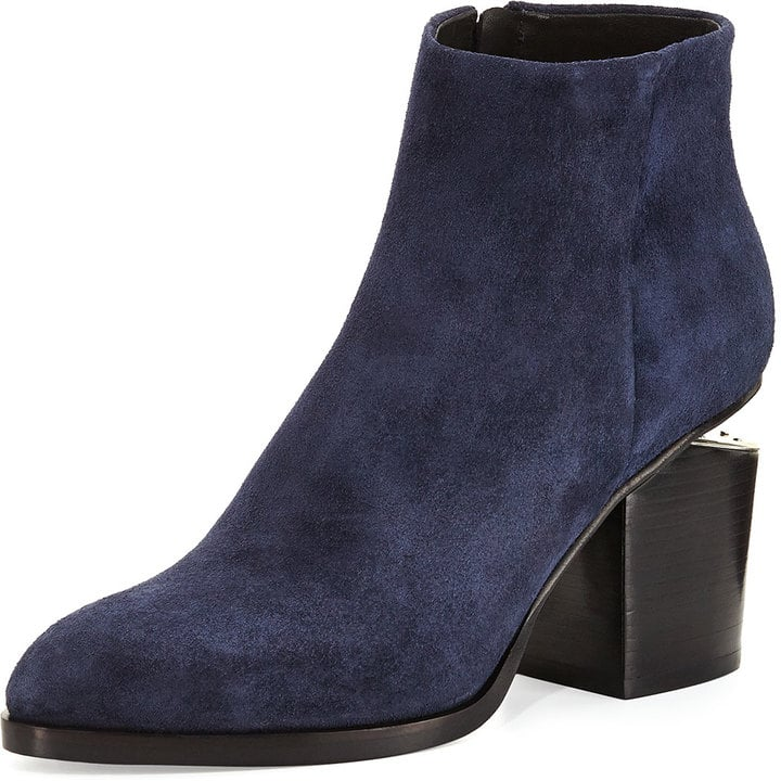b7555554f648c Alexander Wang Suede Ankle Boot in Navy ($650) | Fall Boot Trends ...