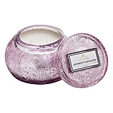 Voluspa Japonica Chawan Bowl Two-Wick Embossed Glass Candle