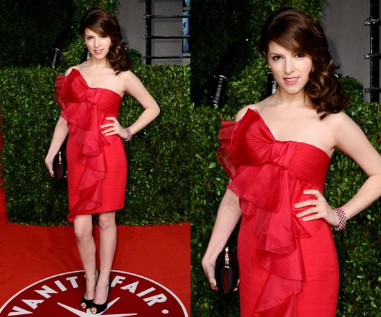 Anna Kendrick in red at Vanity Fair Oscars Afterparty 2011