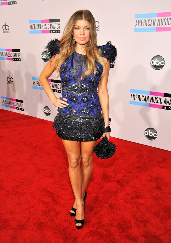 Fergie at the 2010 American Music Awards 2010-11-21 17:10:01