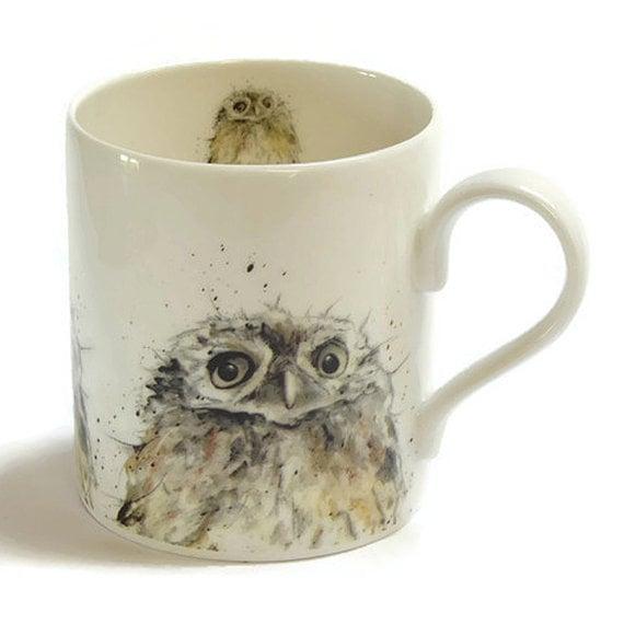 Owl Bone China Mug
