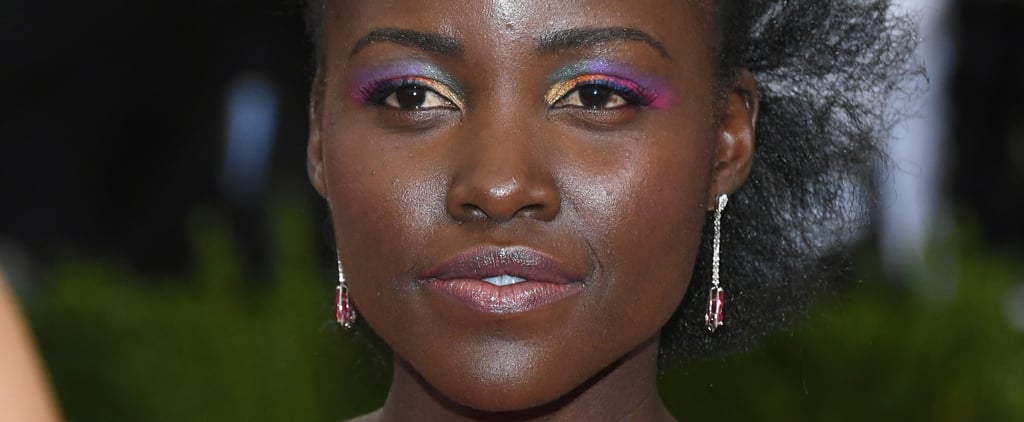 Lupita Nyong'o Wearing Bright Makeup