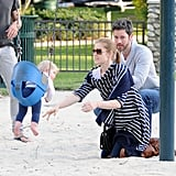 Amy Adams Hits the Park With Darren and Their Aviana