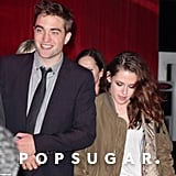 Robert Pattinson flashed a bright smile.