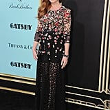 Isla Fisher wore a floral gown for the Great Gatsby premiere in NYC.