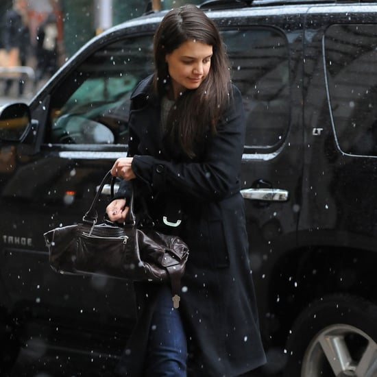 Katie Holmes in Snow Boots Before Blizzard in NYC | Pictures