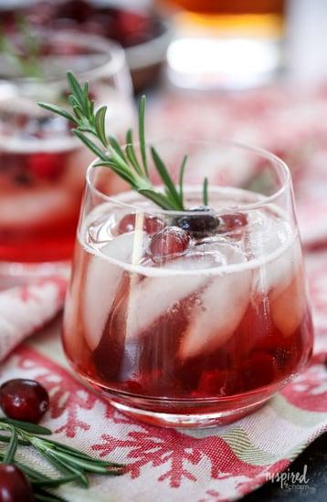Maple Cranberry Bourbon Cocktail