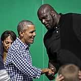 Shaking hands with Shaq at the White House Easter Egg roll in 2016.