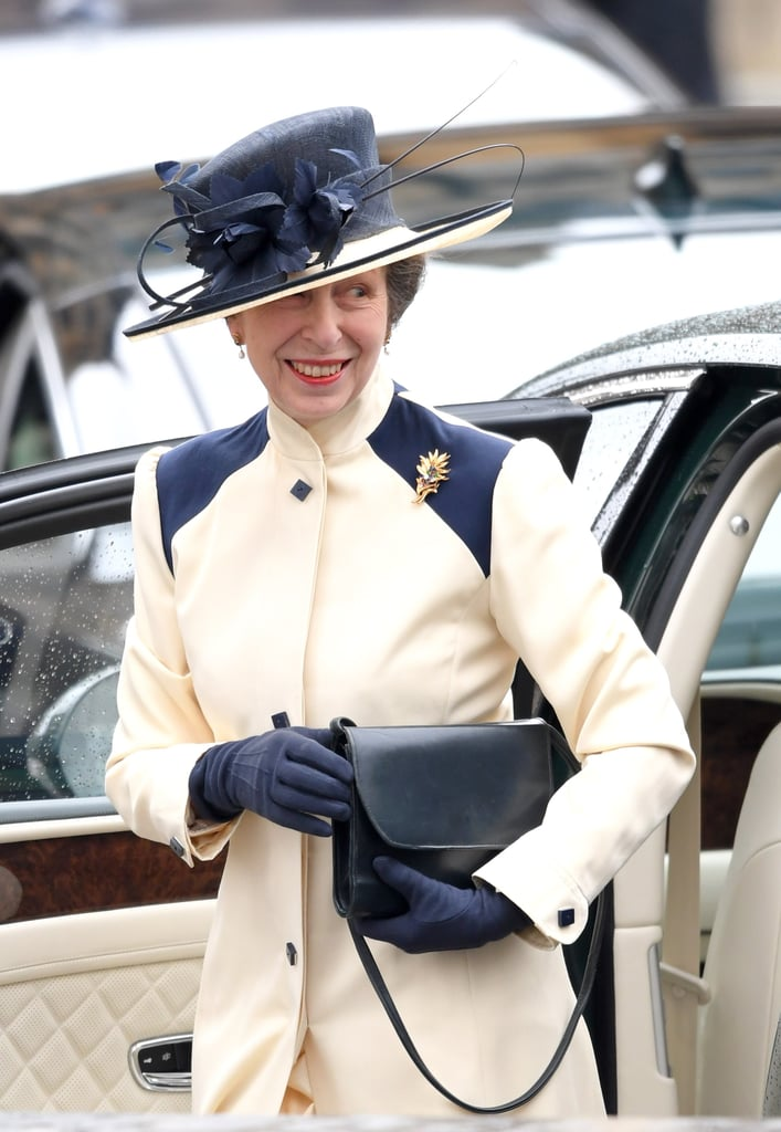 Princess Anne Wearing White Coat