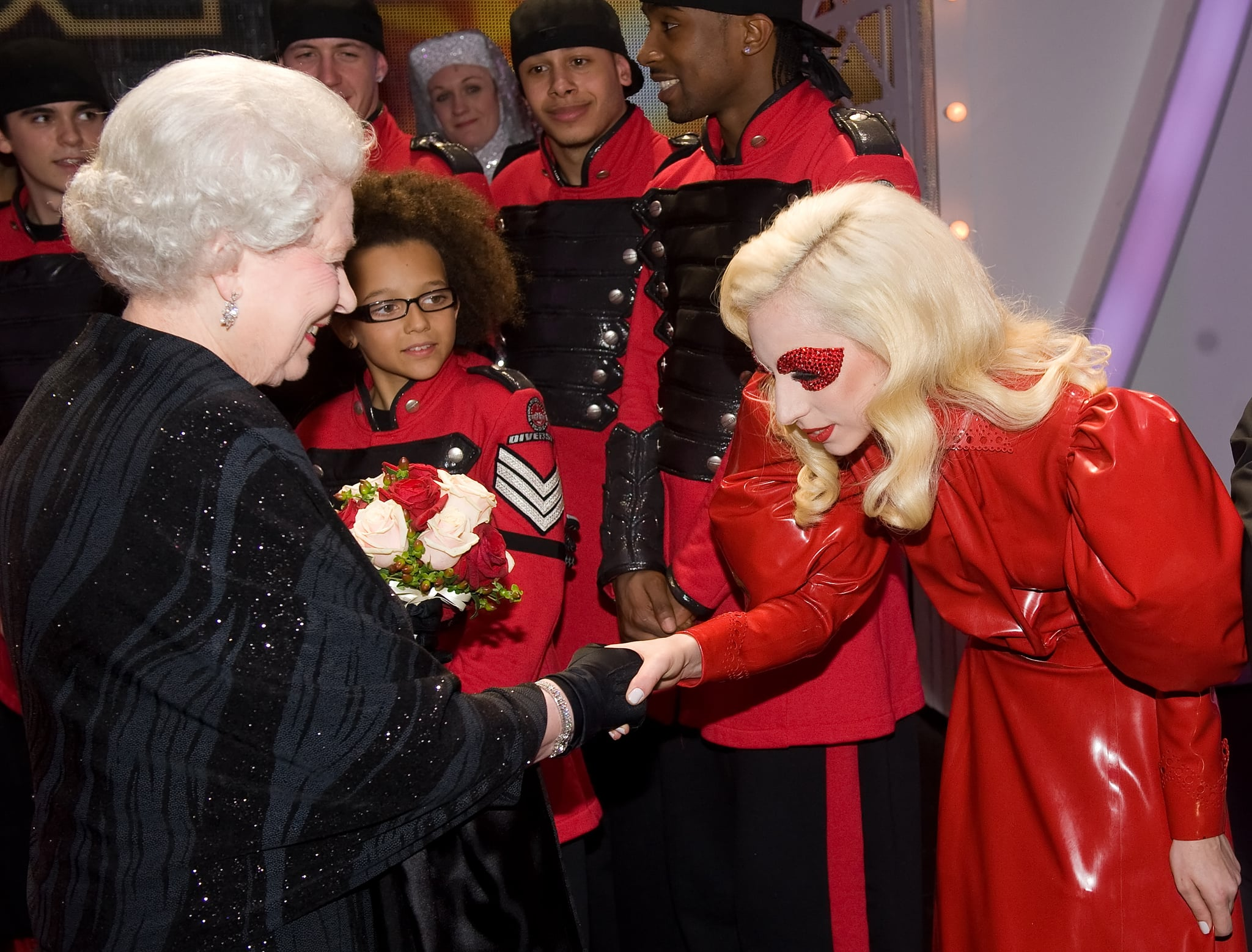Lady Gaga was given the opportunity to meet Queen Elizabeth after the Royal Variety Performance in Blackpool, England, in December 2009.