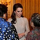 كيت ميدلتون و الأمير ويليام يحضران حفل استقبال بمناسبة عام ا