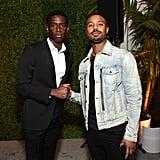 Damson Idris and Michael B. Jordan at the 2020 MACRO Pre-Oscars Party