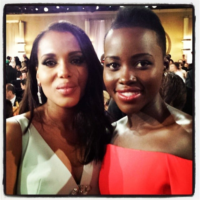 Lupita Nyong'o's Golden Globes Instagram Pictures