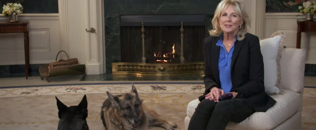 Watch Jill Biden's Puppy Bowl PSA With Dogs Champ and Major