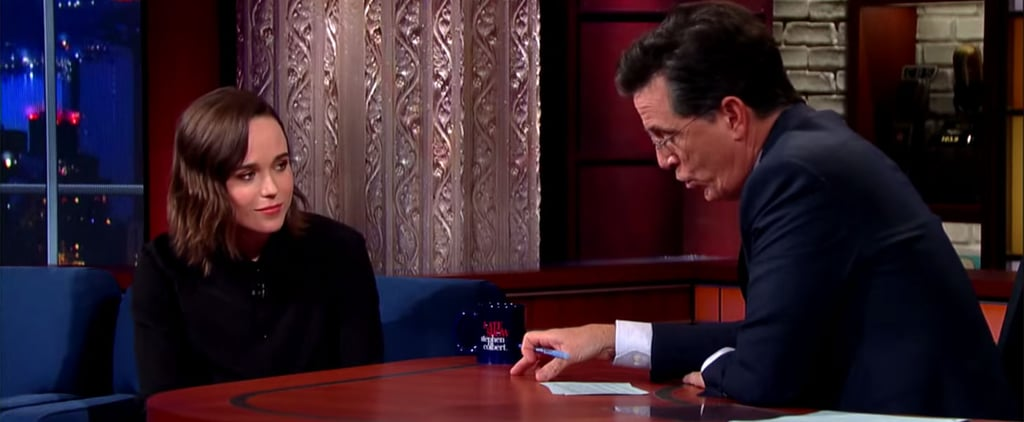 Ellen Page on Stephen Colbert September 2015