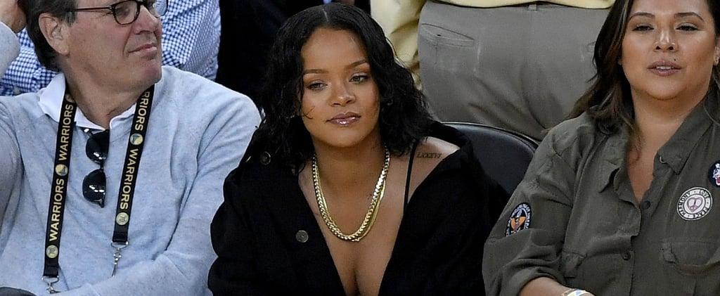 Rihanna and Kevin Durant at NBA Finals 2017