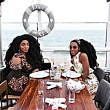 TK and Cipriana Quann Enjoyed Dinner by the Beach
