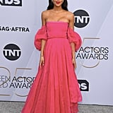 Laura Harrier at the 2019 SAG Awards