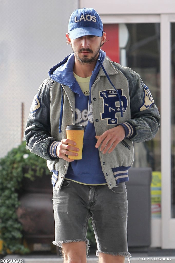 Shia Fuels Up on Gas and Caffeine Post-Breakup