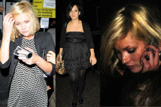 15/10/08 Kate Moss & Lily Allen At Town House Preview