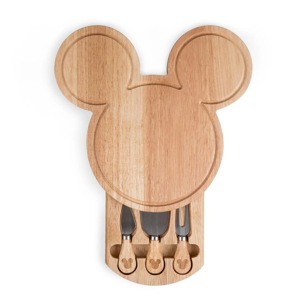 Disney Mickey Mouse Wood Cheese Board With Tool Set