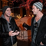 Liam and Chris cracked up together when they attended the Sundance Film Festival in January 2011.