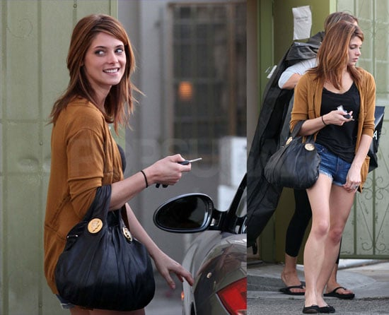 Ashley Greene Gets Dressed As She Preps For Teen Choice