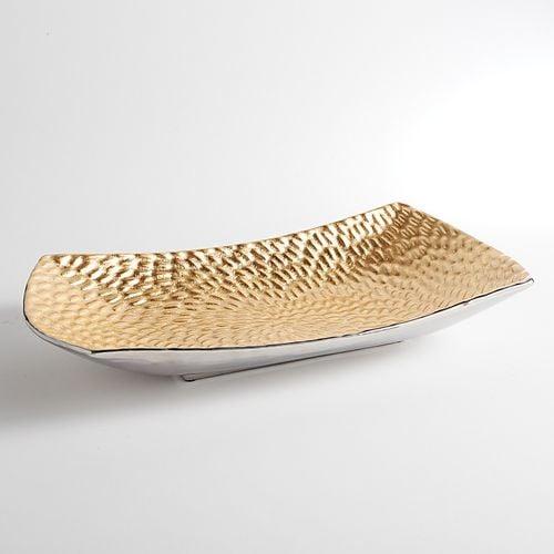 Gold Foil Textured Rectangular Bowl
