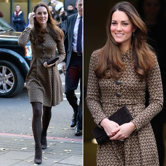 Kate Middleton in an Orla Kiely Coat Dress