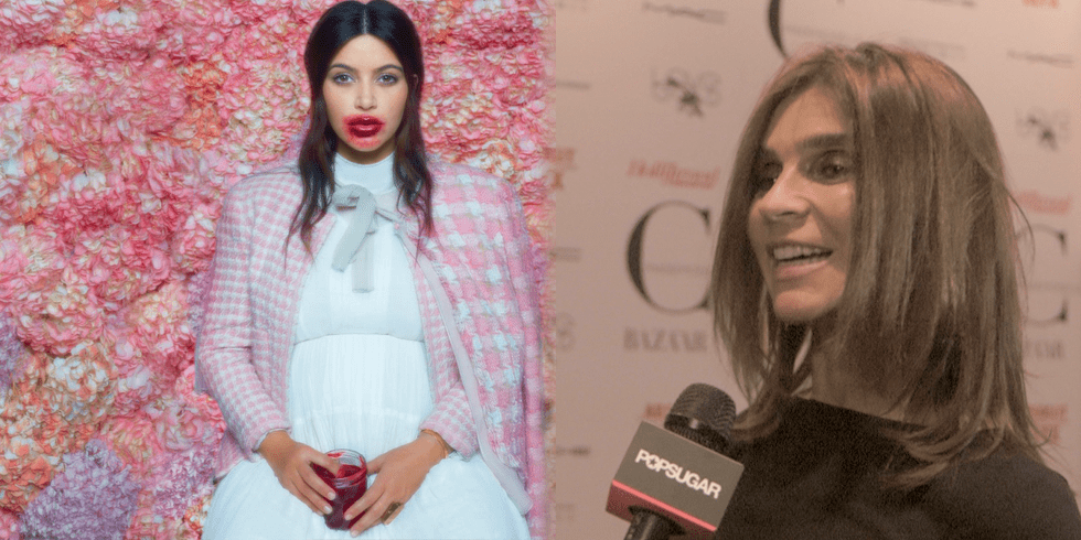 Carine Roitfeld Says Kim Kardashian Is The Easiest Model She's Ever Worked With?
