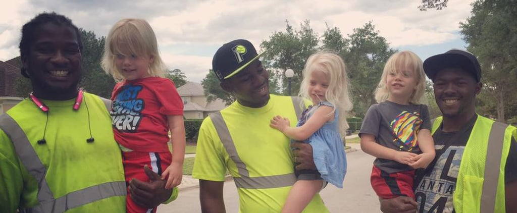 Video of Little Kids With Their Garbage Men