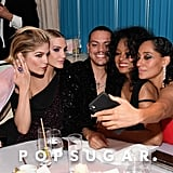 Pictured: Selma Blair, Ashlee Simpson, Evan Ross, Diana Ross, and Tracee Ellis Ross