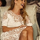 Rosie Huntington-Whiteley in China for Transformers: Dark of the Moon.