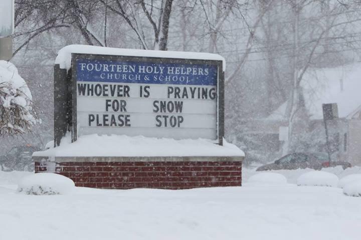 funny church sign during the polar vortex picture popsugar